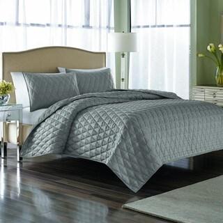 Nicole Miller Serenity Steel 3-piece Quilt Set