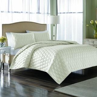 Nicole Miller Serenity Pearl 3-piece Quilt Set