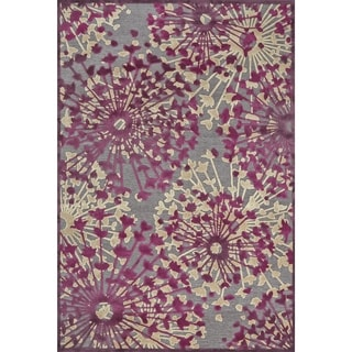 "Feizy Power Loomed Viscose Larache Rug in Pewter / Light Silver 5'-3"" X 7'-6"""