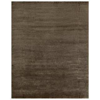 "Grand Bazaar Hand-knotted Wool & Art Silk Radiance Rug in Slate 5'-6"" x 8'-6"""