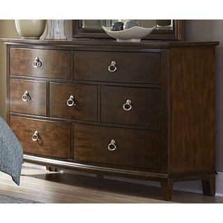 Liberty Walnut 7-drawer Cathedral Dresser