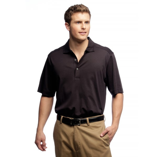 Callaway Men's Luxury Cotton Black Golf Polo Shirt