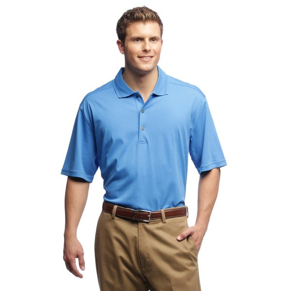 Callaway Men's Luxury Cotton Ocean Blue Golf Polo