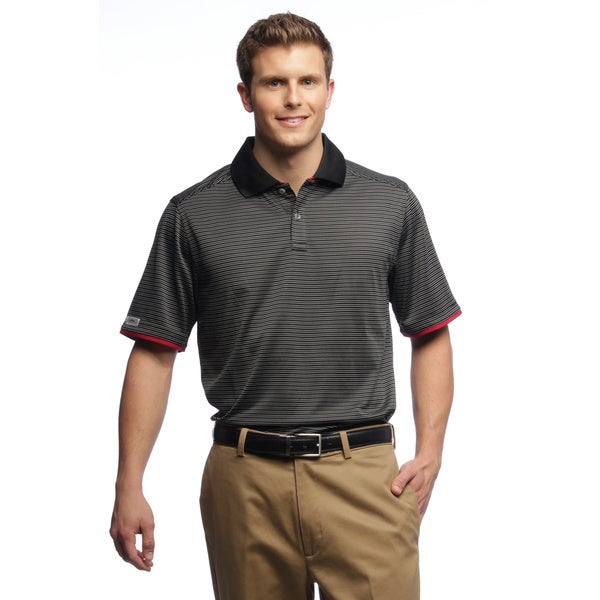 Callaway Men's Gravity Stripe Black Polo Shirt