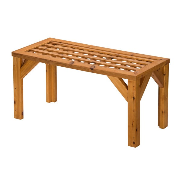 Western Red Cedar Lattice Coffee Table Overstock Shopping Big Discounts On Coffee Side Tables