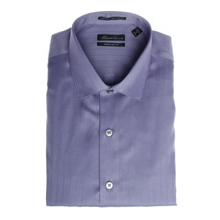 Kenneth Cole Men's Striped Dress Shirt in Light Purple