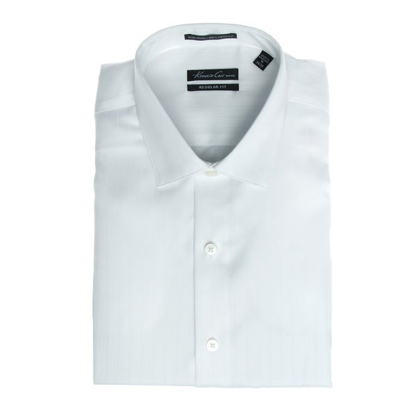 Kenneth Cole Men's Striped Dress Shirt in White