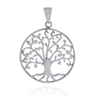 Cosmic Swirl Tree of Life Symbol Sterling Silver Pendant (Thailand)