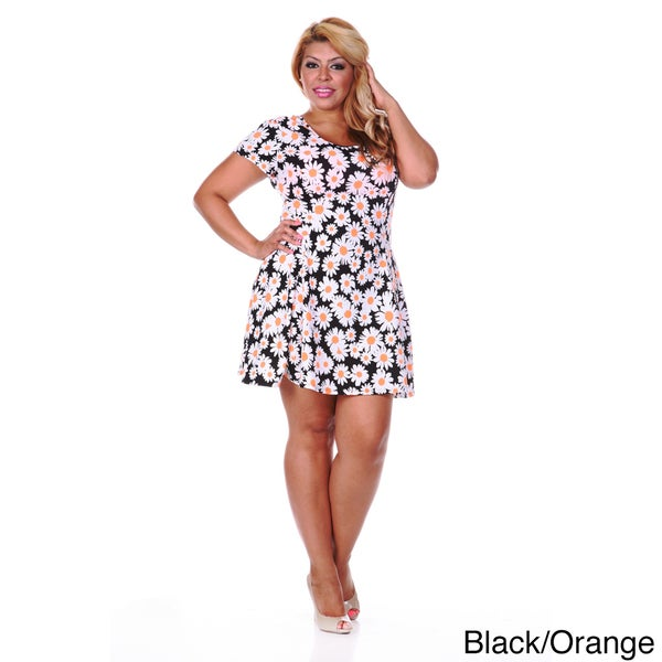 White Skater Dress Plus Size White Mark Women's Plus Size