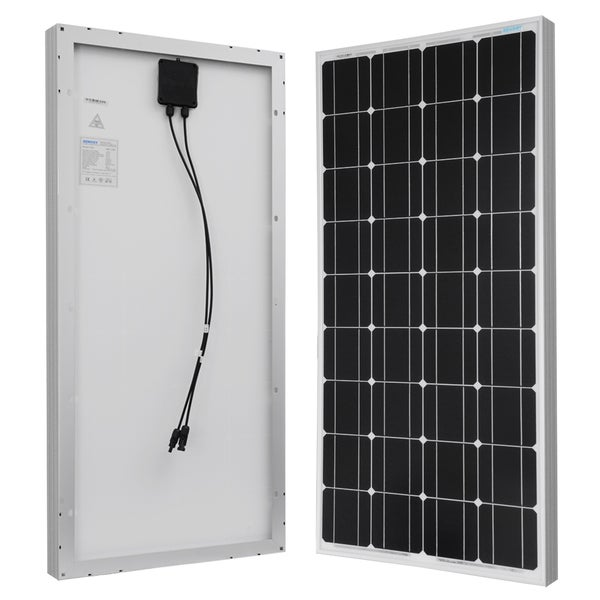 Renogy Solar Panel 100W Watt Monocrystalline 12V Off Grid RV Boat