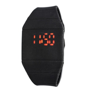 Kid's Black Rubber Digital LED Watch