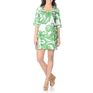 La Cera Women's Floral Print Cover-up