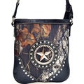 Mossy Oak Rhinestone-star Studded Camouflage Messenger Bag