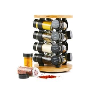 Orii 16 Jar Round Bamboo Spice Rack