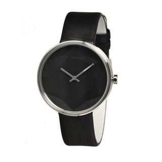 Fedon 1919 Men's Diamond Black Leather Black Analog Watch