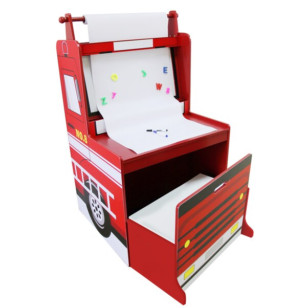 Arms Wooden Fire Engine Easel