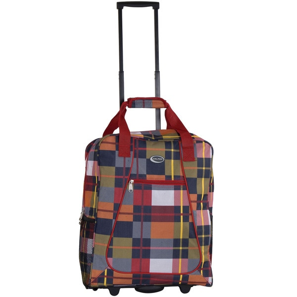 CalPak 'Big Eazy II' 20-inch Bright Brit Rolling Shopping Tote Bag
