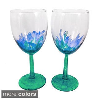 Hand-painted Two-tone Wine Glasses (Set of 4)
