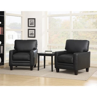 Serta Black 'Santa Rosa' Track Arm Accent Chair