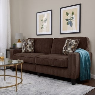 Serta RTA Palisades Collection 78-inch Riverfront Brown Sofa