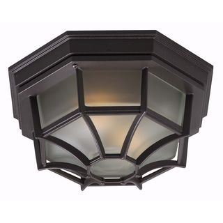 Durie 2-light Flush Mount Bronze Ceiling Light