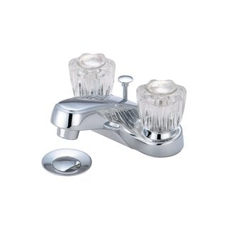 "Olympia L7222 Elite Acrylic Handle 4"" Centerset Lavatory Faucet"