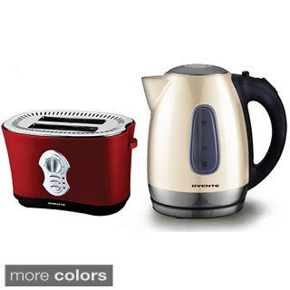 Ovente 1.7-liter Stainless Steel Electric Kettle with 2250 Two-slice Toaster