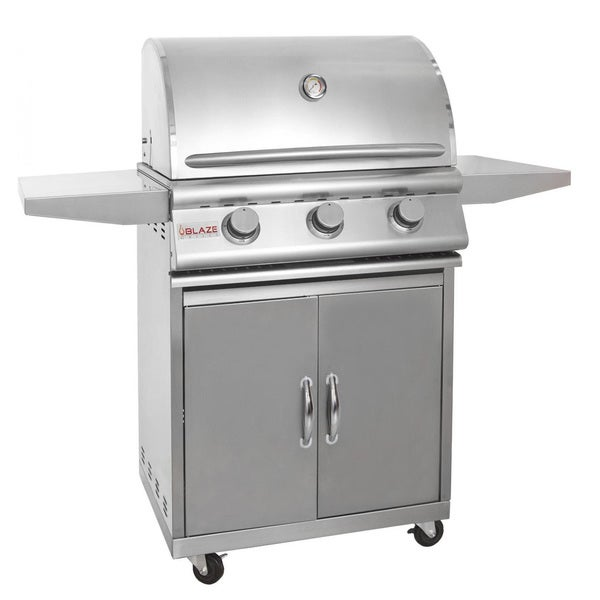 Blaze 25-inch 3-burner Gas Grill with Cart