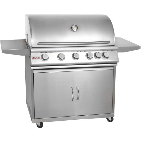Blaze Stainless Steel 40-inch 5-burner Gas Grill with Cart