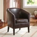 Linon Simon Brown Flared Arm Club Chair