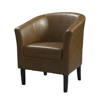 Oh! Home Simon Russet Flared Arm Club Chair