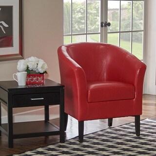 Simon Red Club Chair