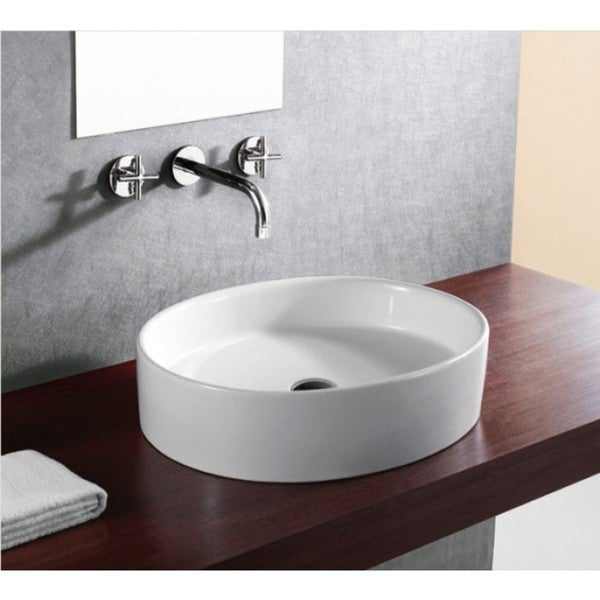 "21.75"" European Style Oval Shape Porcelain Ceramic Bathroom Vessel Sink"