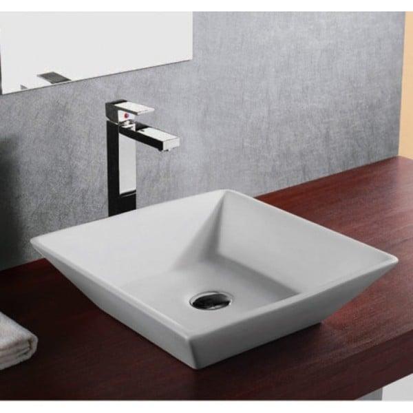 "16"" European Style Slope Wall Shape Porcelain Ceramic Bathroom Vessel Sink"