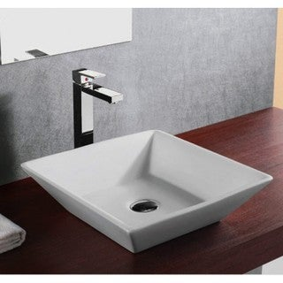 Vessel Style Bathroom Sinks : ... European Style Slope Wall Shape Porcelain Ceramic Bathroom Vessel Sink