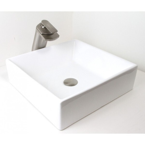 Vessel Style Bathroom Sinks : ... Style Rectangular Shape Porcelain Ceramic Bathroom Vessel Sink image