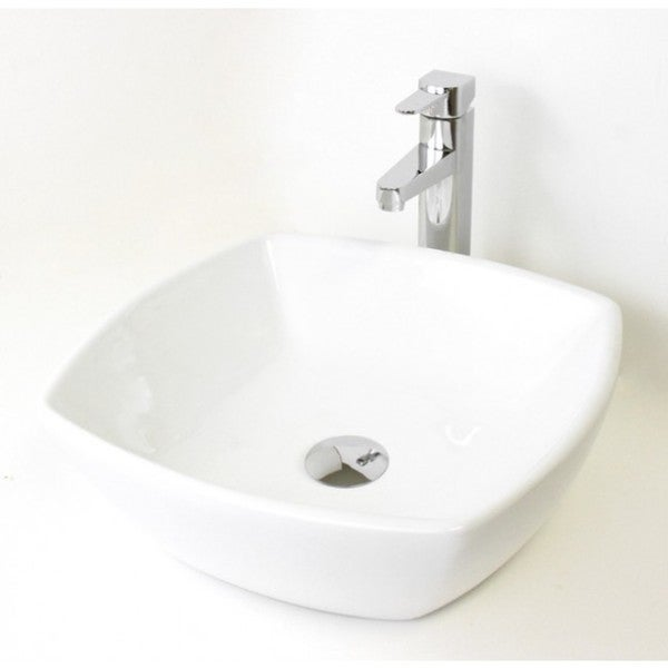 "17.5"" European Style Round Circular Shape Porcelain Ceramic Bathroom Vessel Sink"