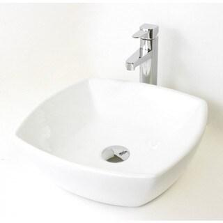 "17.5"" European Style Round Circular Shape Porcelain Ceramic Bathroom Vessel Sink"