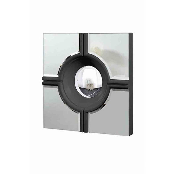 Somette Modern Square Black Mirror 13099866