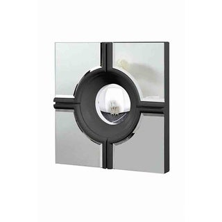 Christopher Knight Home Modern Square Black Mirror
