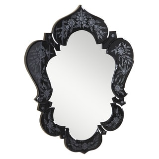 Somette Venetian Black Design Mirror