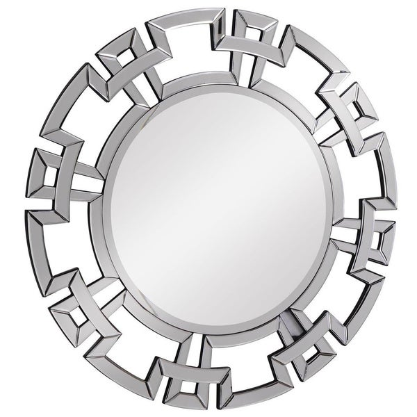 Somette Modern Round Clear Mirror