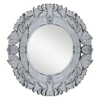 Christopher Knight Home Venetian Round Silver / Clear Mirror