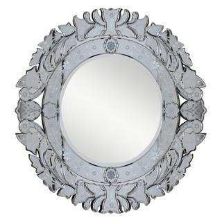 Somette Venetian Round Silver / Clear Mirror