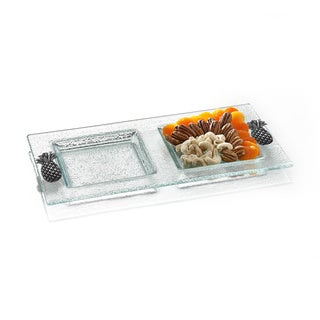 Fifth Avenue Crystal Pineapple 2-section Server