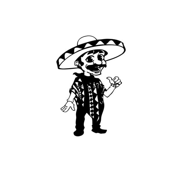 Funny Mexican Man Vinyl Wall Art