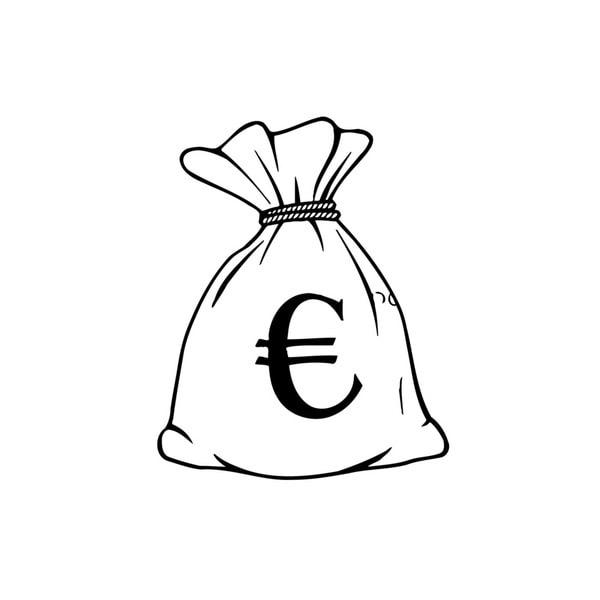 Euro Money Bag Vinyl Wall Art