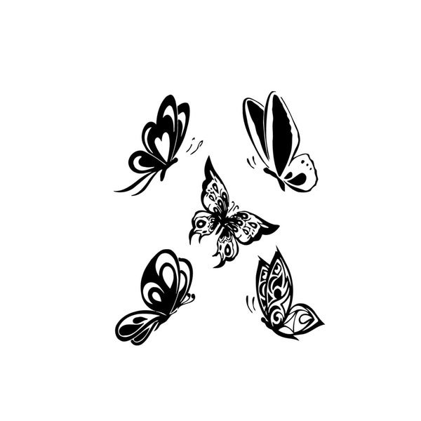 Five Flying Butterflies Vinyl Wall Art