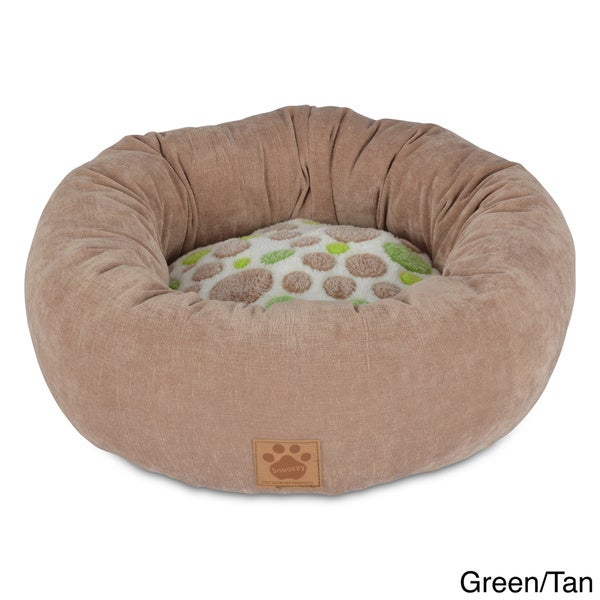 Precision Pet Plush Polka Dot Donut Pet Bed