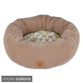 Precision Pet Plush Polka Dot Donut Pet Bed